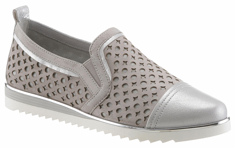 Be Natural Slipper, mit Lasercut online kaufen  grau-silberfarben