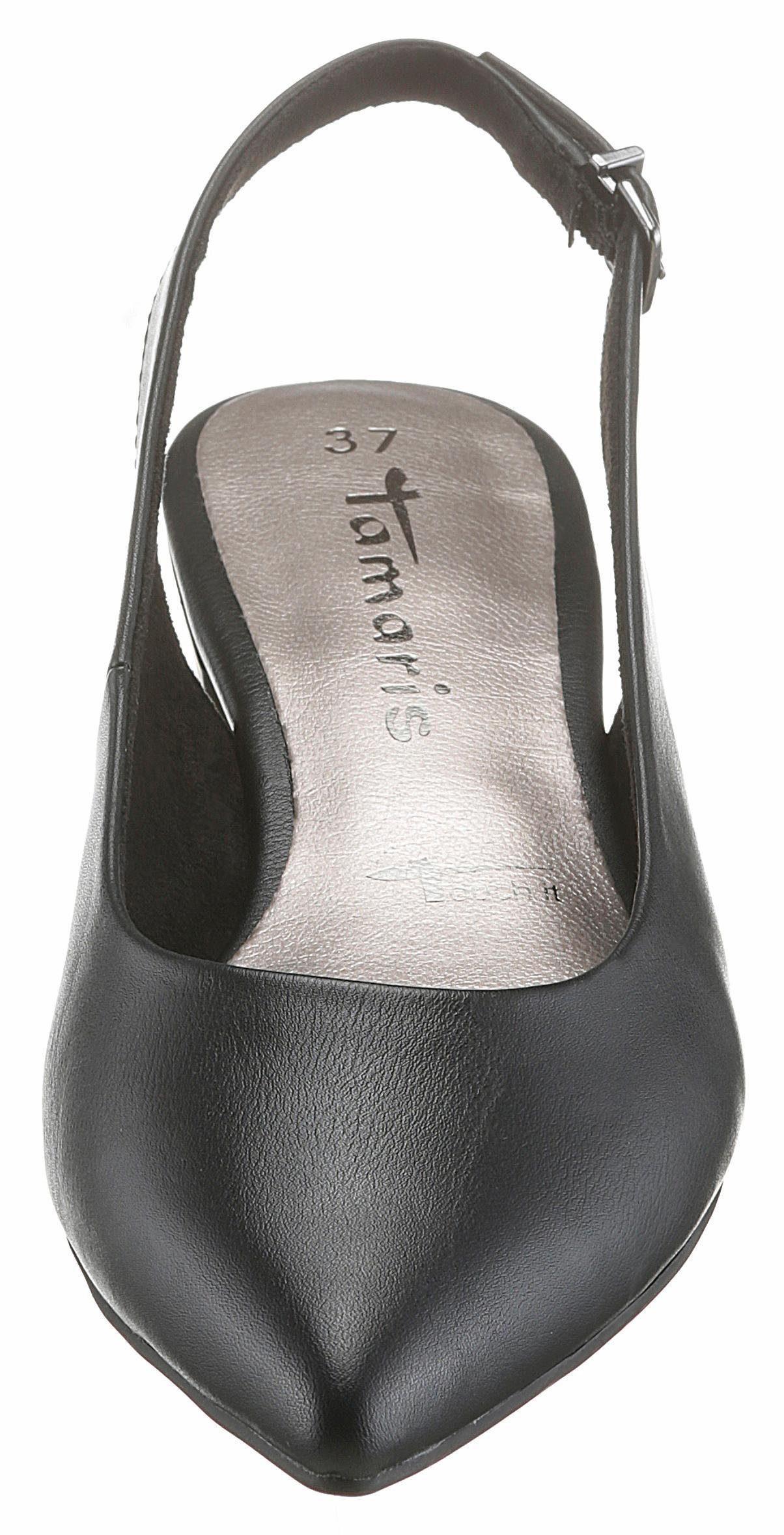 Tamaris Slingpumps, in spitzer Form online kaufen  schwarz