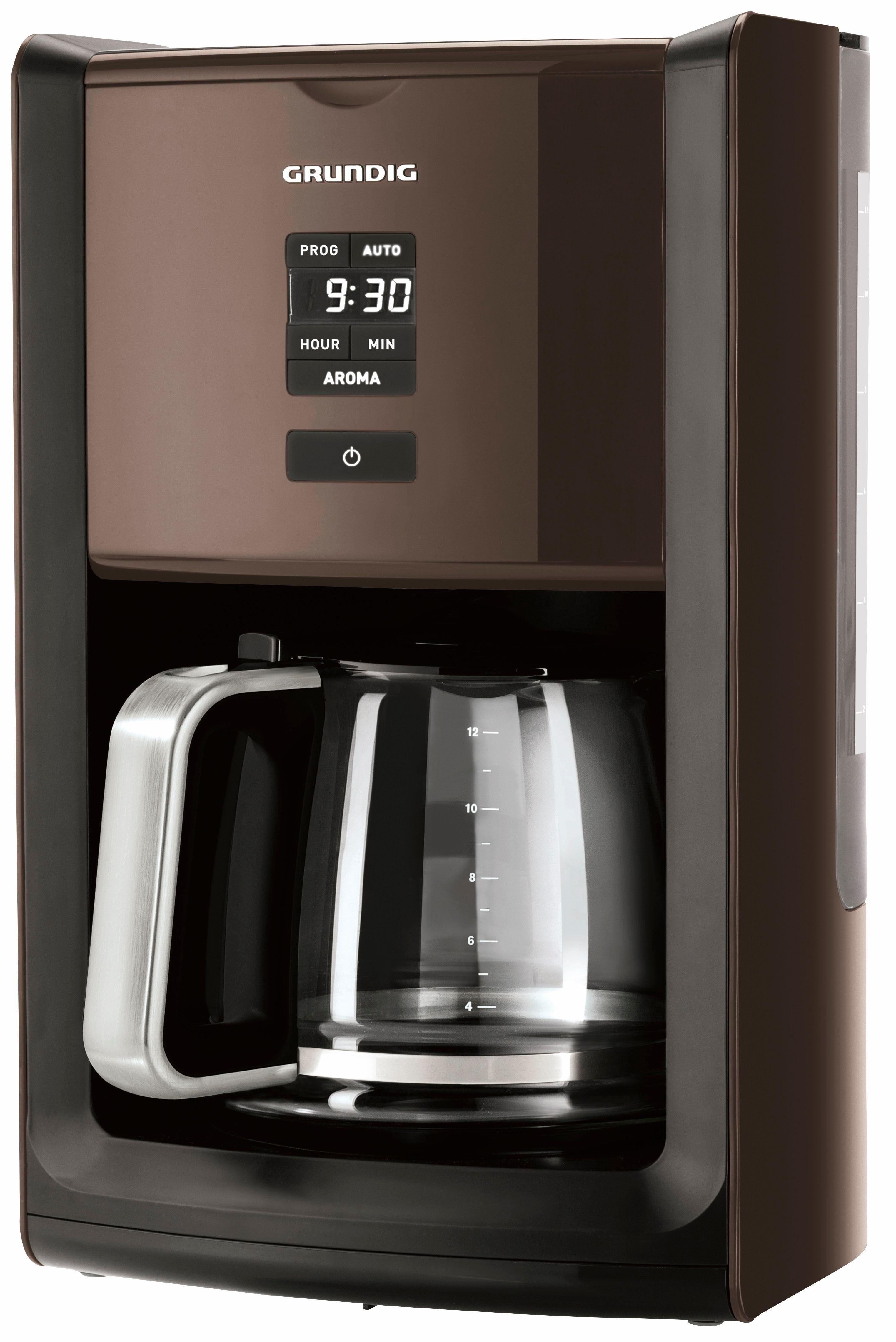 Grundig Filterkaffeemaschine KM 7280 G, 1,8l Kaffeekanne, Papierfilter