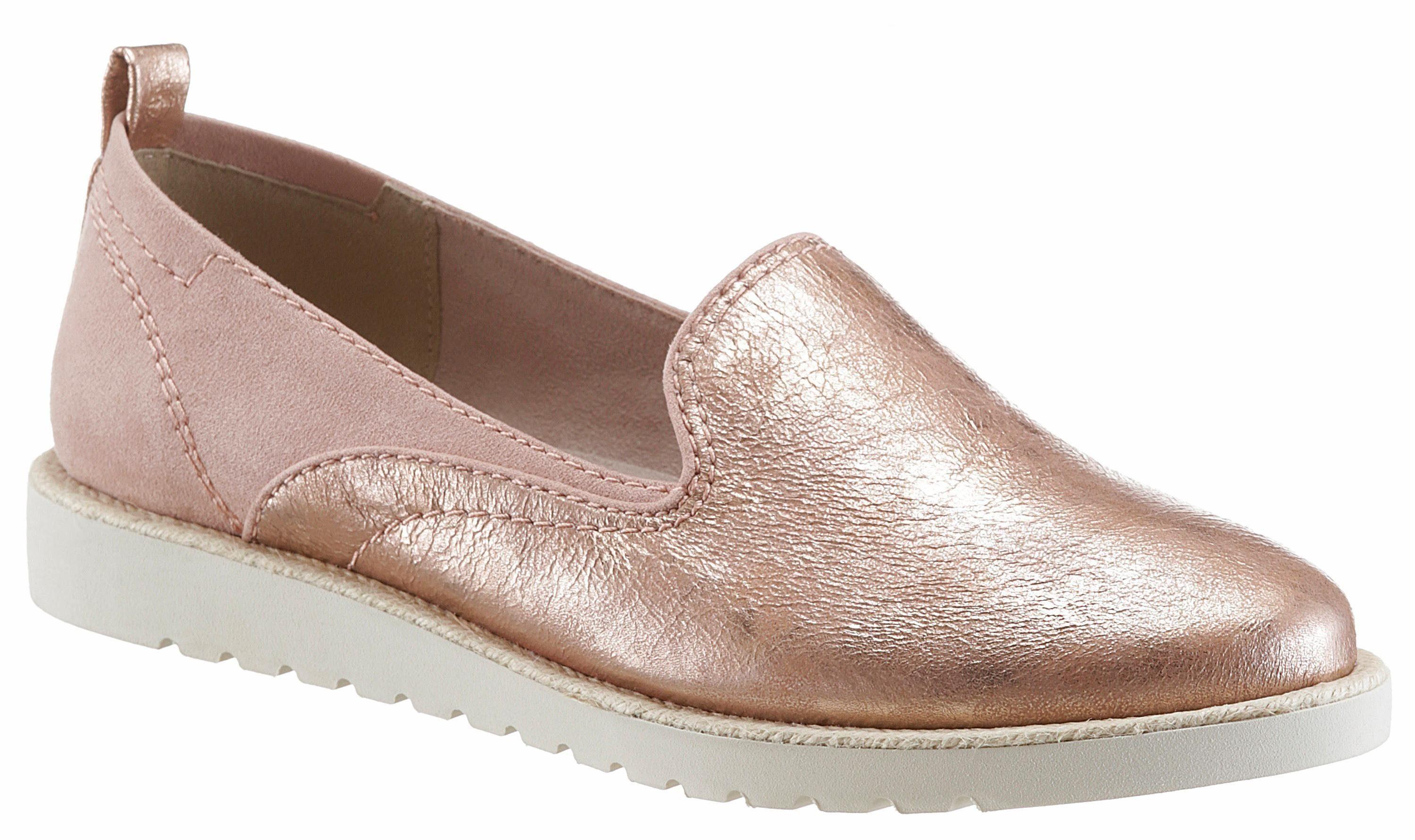 Jana Slipper, in Schuhweite H (sehr weit) kaufen  roségoldfarben