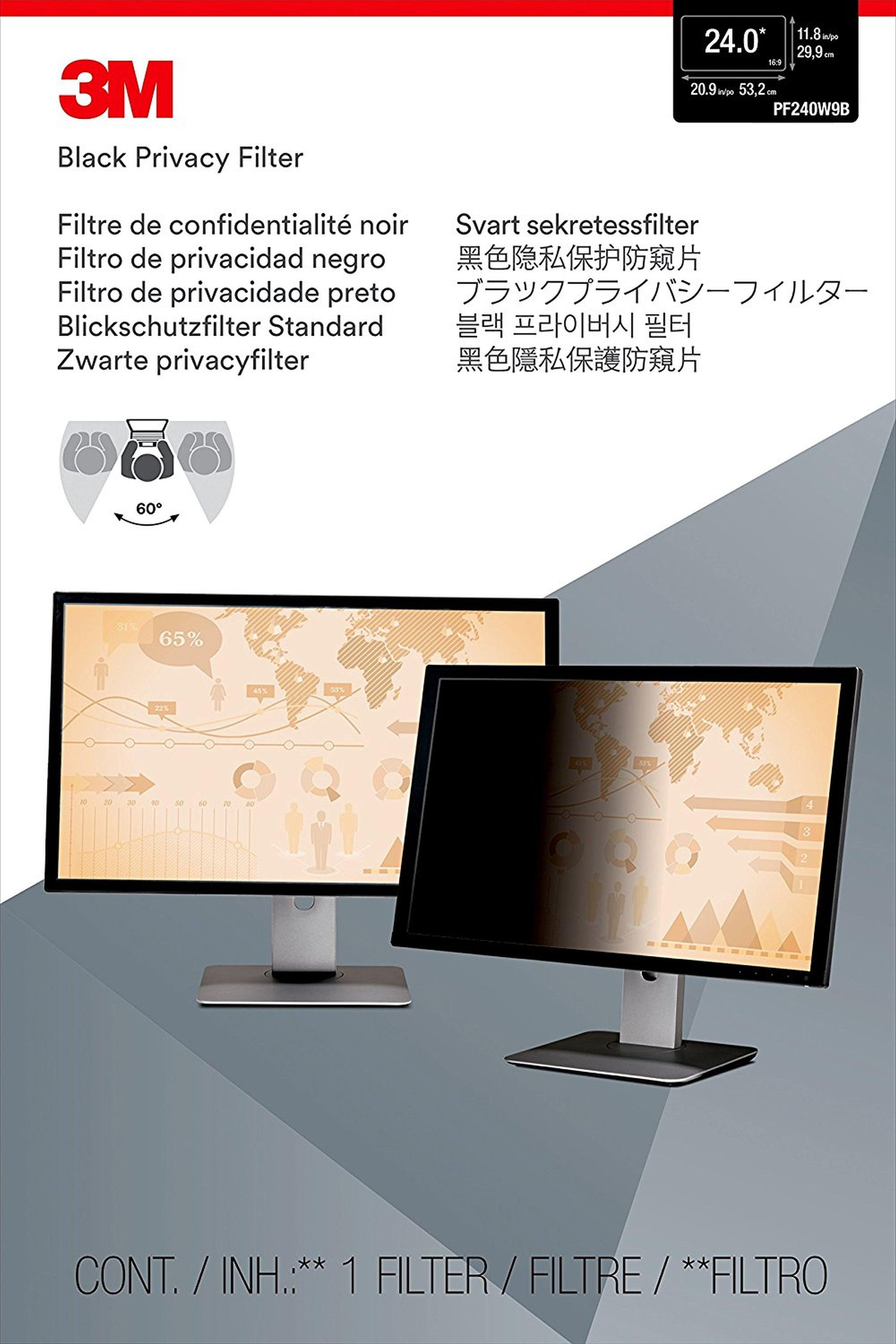 """3M PF24.0W9 Blickschutzfilter Standard »für Desktop 61cm (24"""")«"""