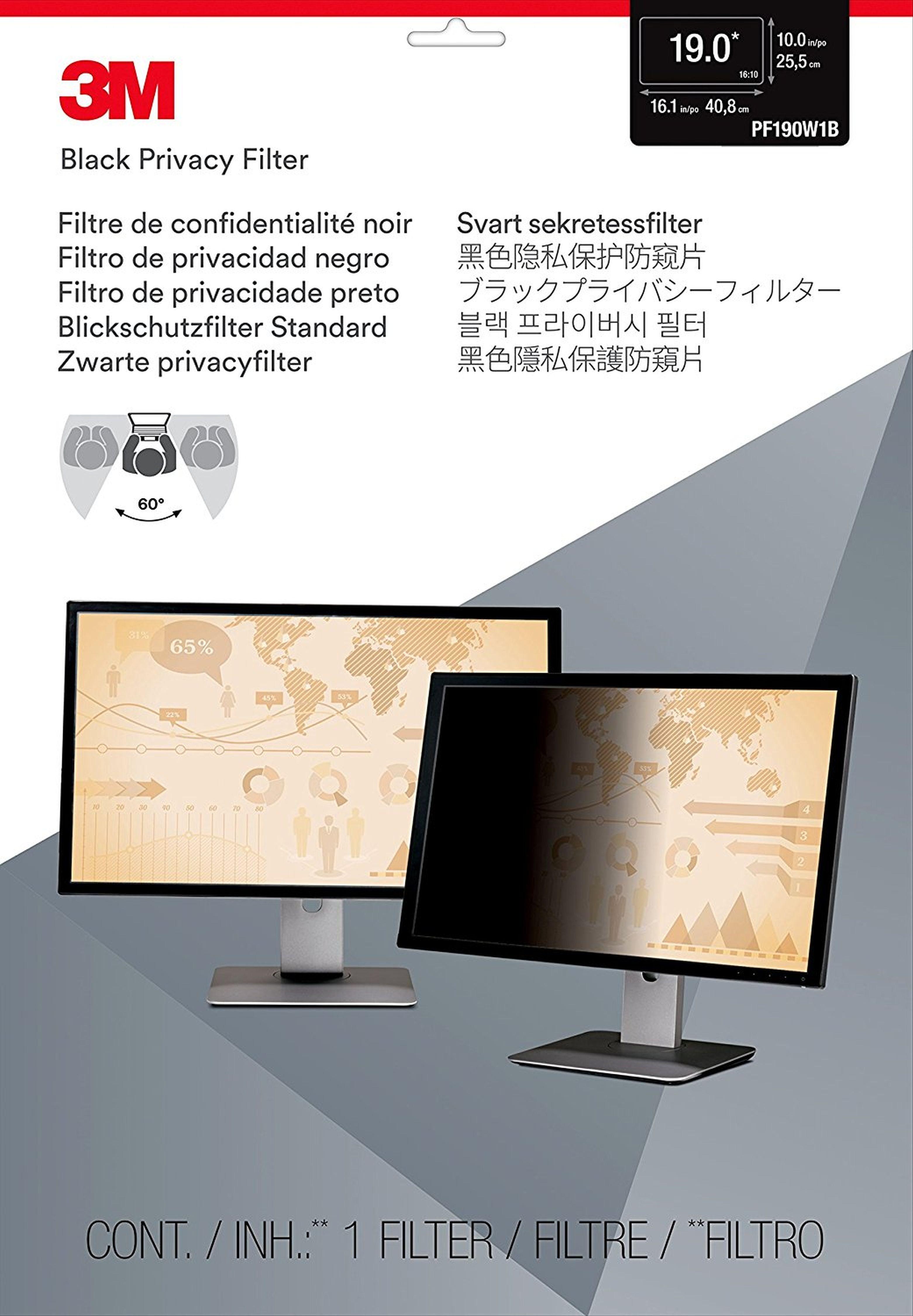 """3M PF19.0W Blickschutzfilter Standard »für Desktop 48,3 cm (19"""")«"""