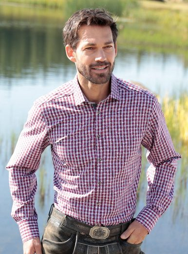 Os-seek Costume Shirt With Buttons In Staghorn Optics