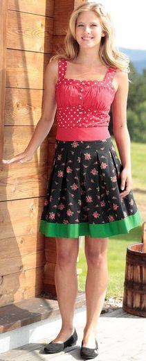 Love Nature Trachtenrock Damen im Rosen-Design