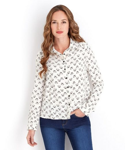 Joe Browns Hemdbluse Joe Browns Women's Fitted Long Sleeved Shirt with Owl graphic print