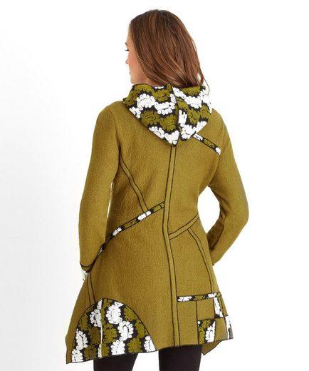 Joe Browns Blousonjacke Joe Browns Women's Oversized Jacket with Printed panel and asymmetric hemline