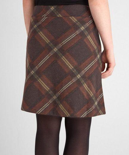 Joe Browns Minirock Joe Browns Women's mock Wrap Round Jersey Checked Skirt