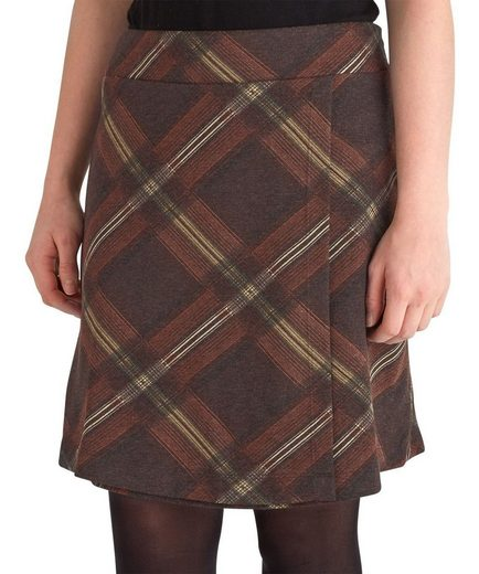 Joe Browns Minirock Joe Browns Women's mock Wrap Round Jersey Checked Skirt
