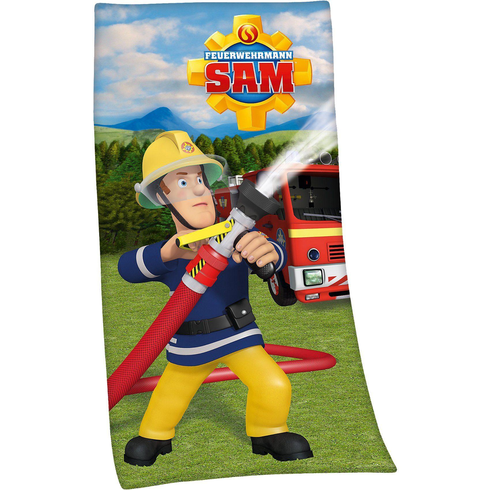 Herding Strand- & Badetuch Feuerwehrmann Sam, 75 x 150 cm