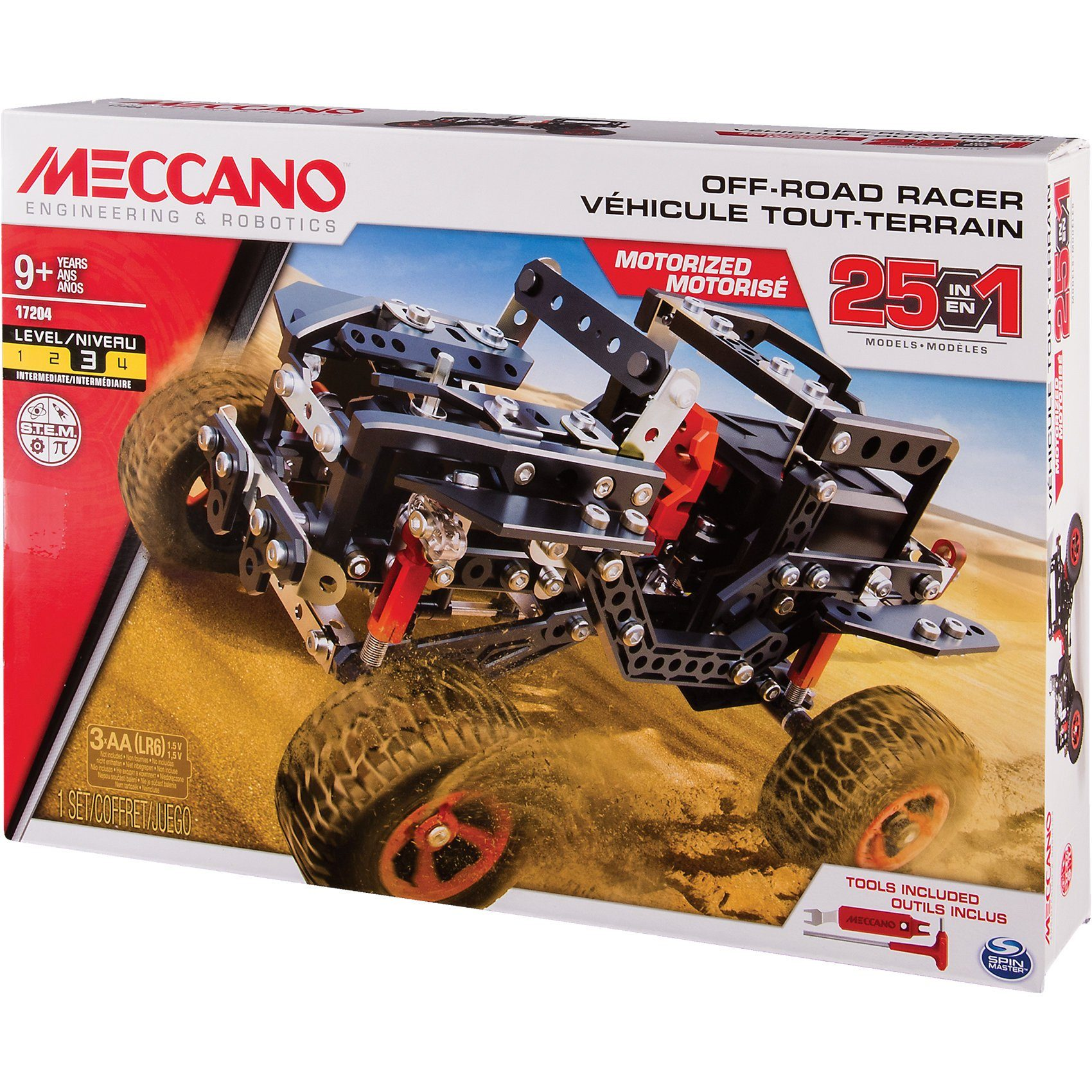 Spin Master Meccano 25 Modell Set - Offroad Race car