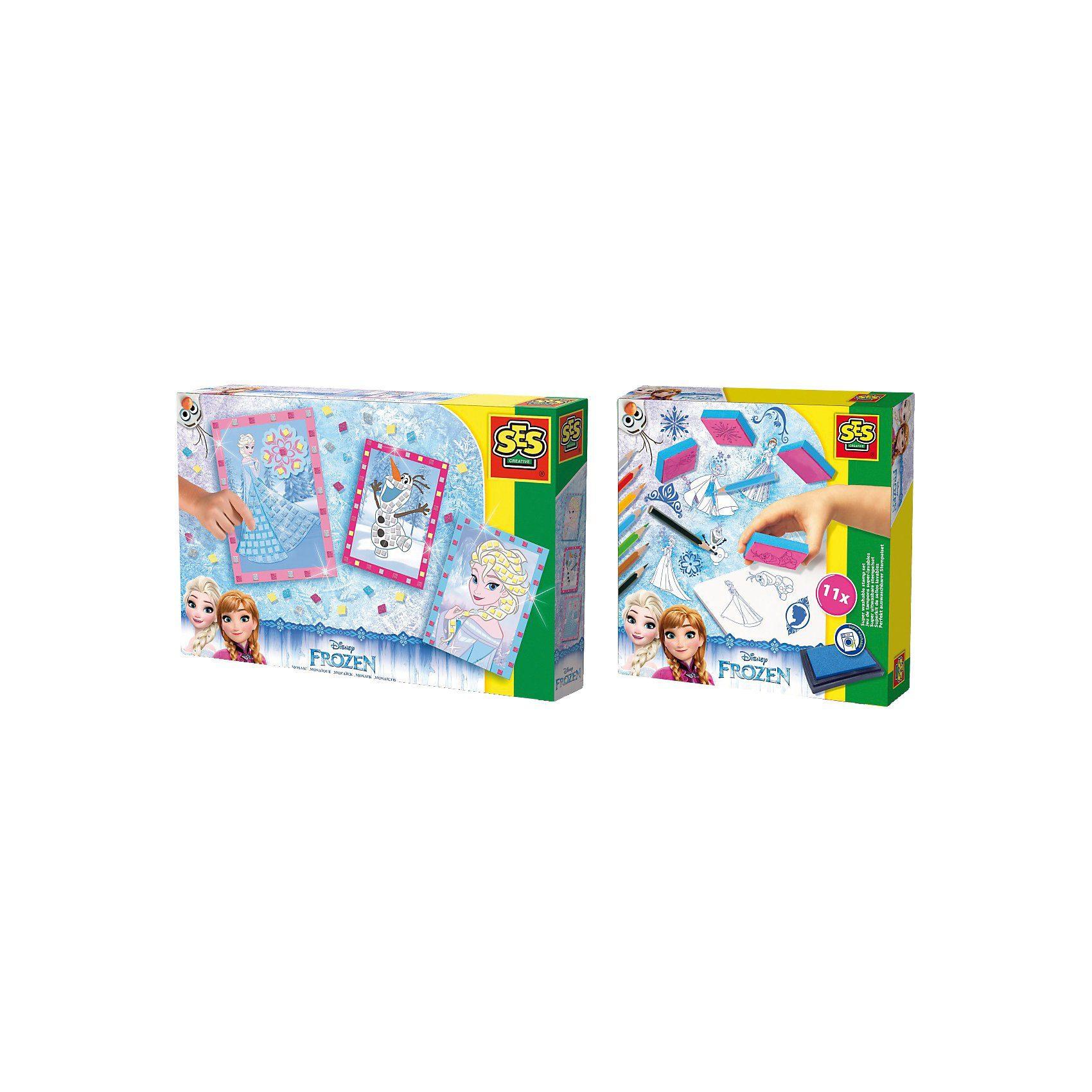 SES Creative 2in1 Set Mosaike legen und Stempeln - Die Eiskönigin