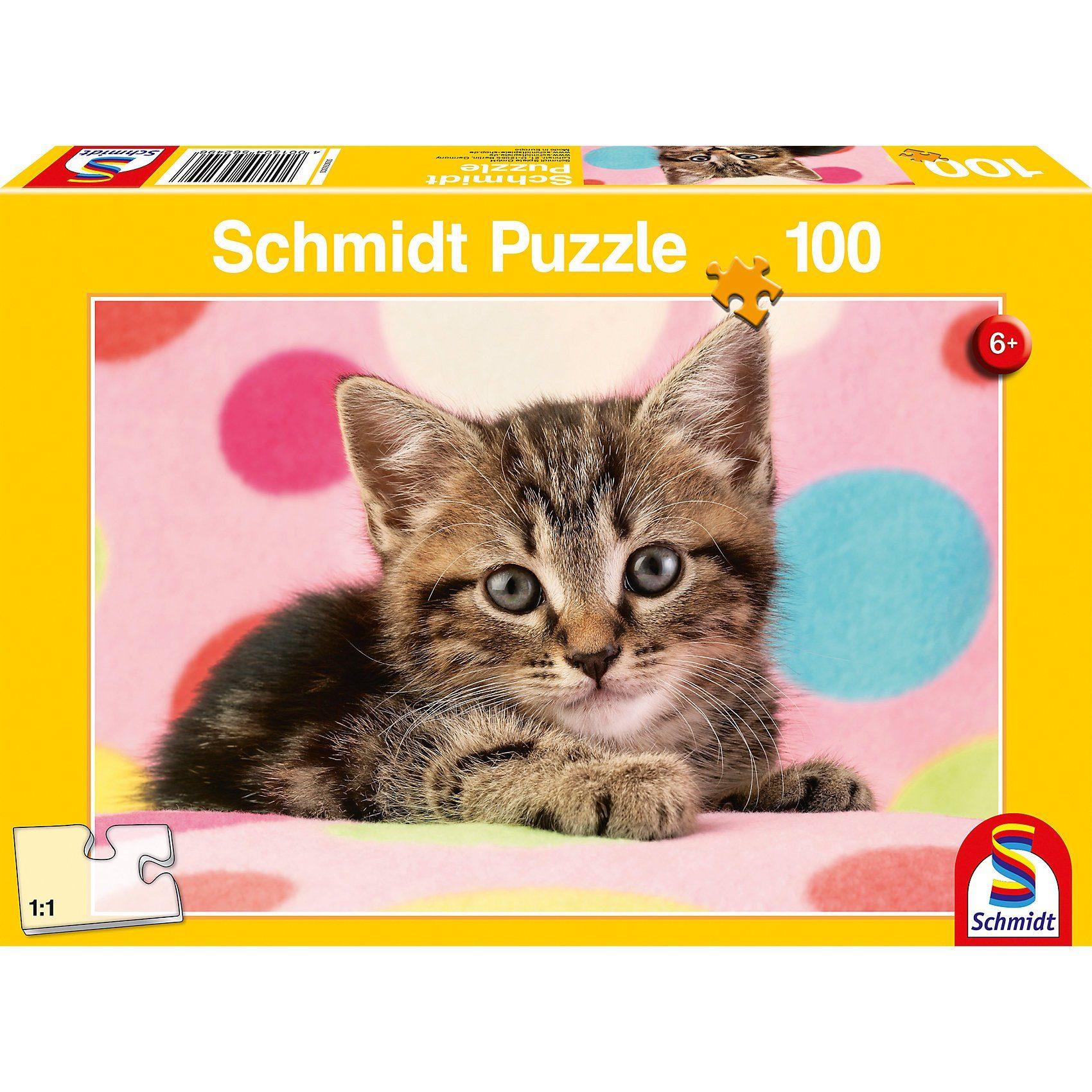 Schmidt Spiele Puzzle 100 Teile Süßes Katzenkind