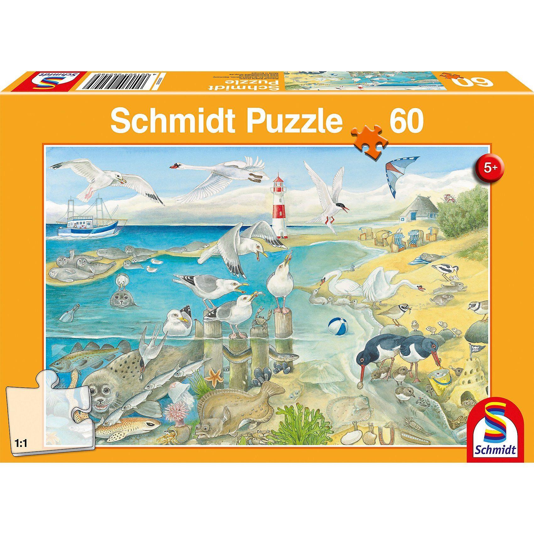Schmidt Spiele Puzzle 60 Teile Tiere am Meer