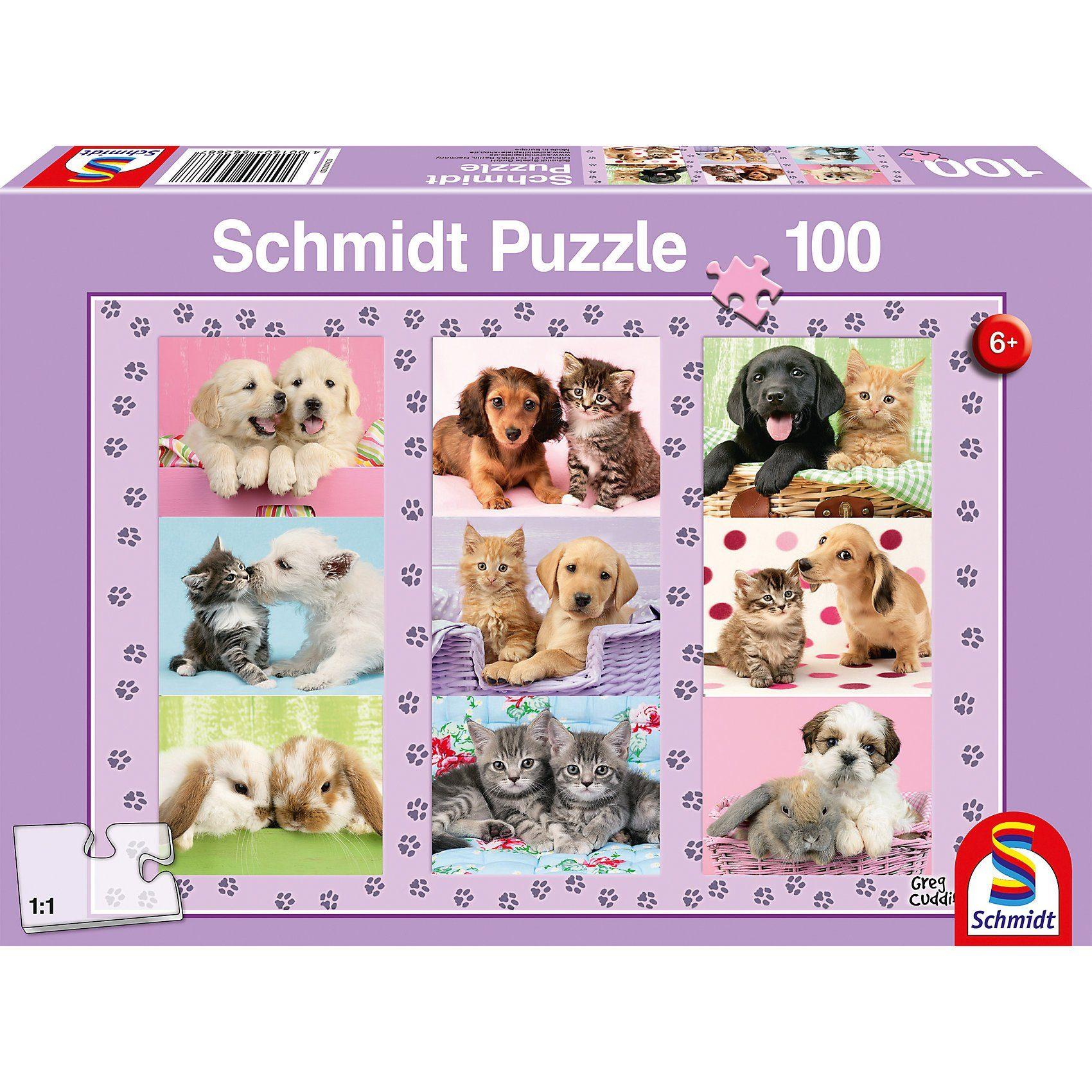 Schmidt Spiele Puzzle 100 Teile Meine Tierfreunde