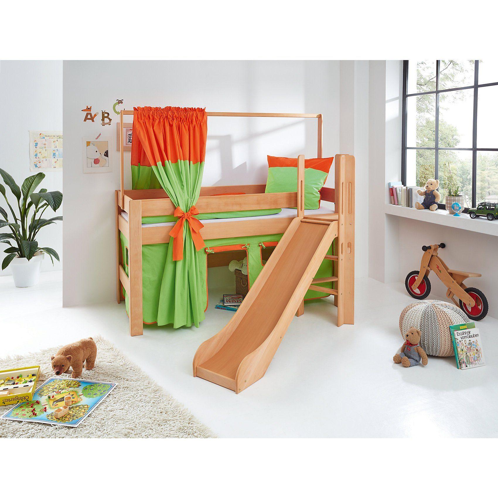 Relita Zeltstoffset für Spielbett LEO, grün/orange