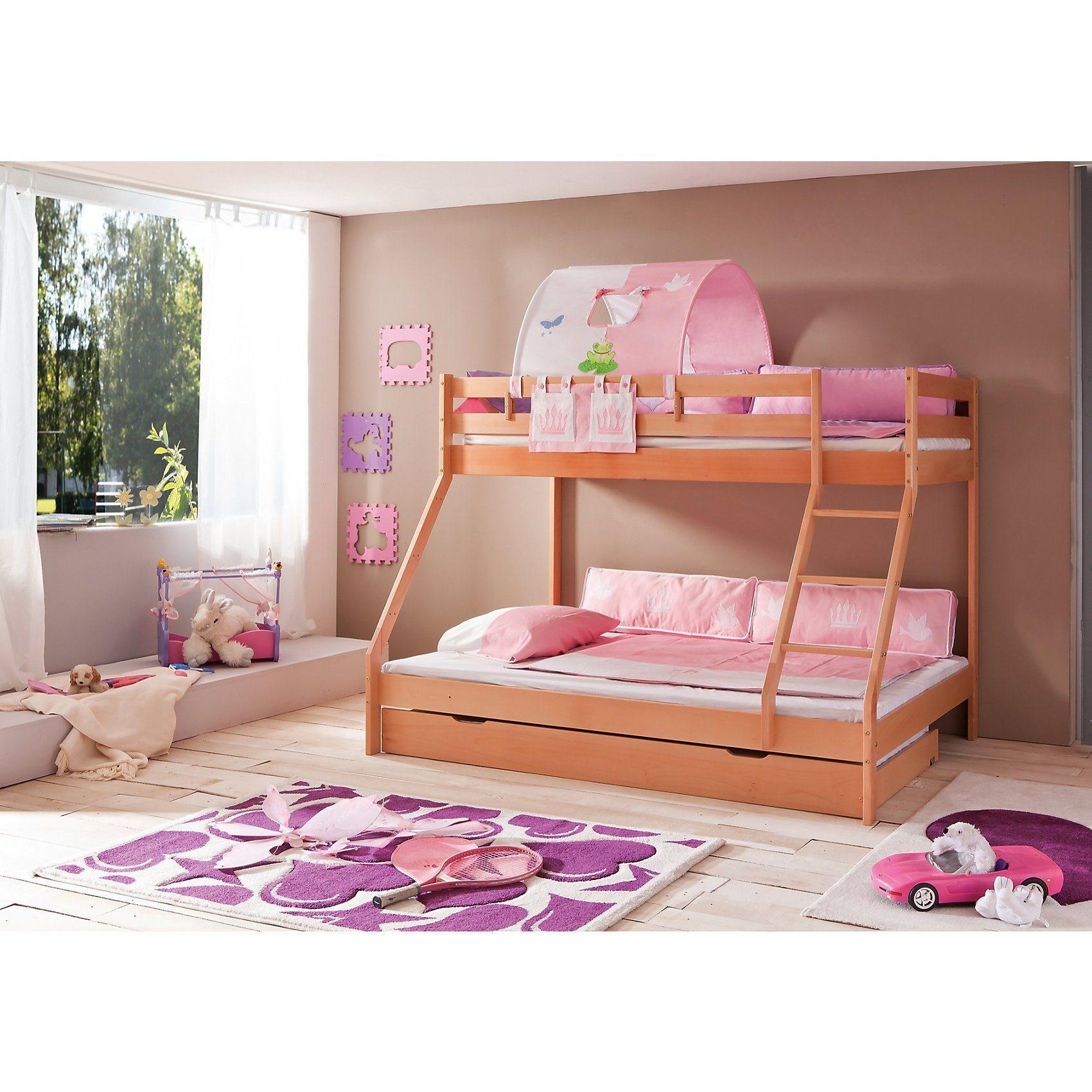 Relita Betttasche für Hoch- & Etagenbett, Prinzessin, rosa/weiß