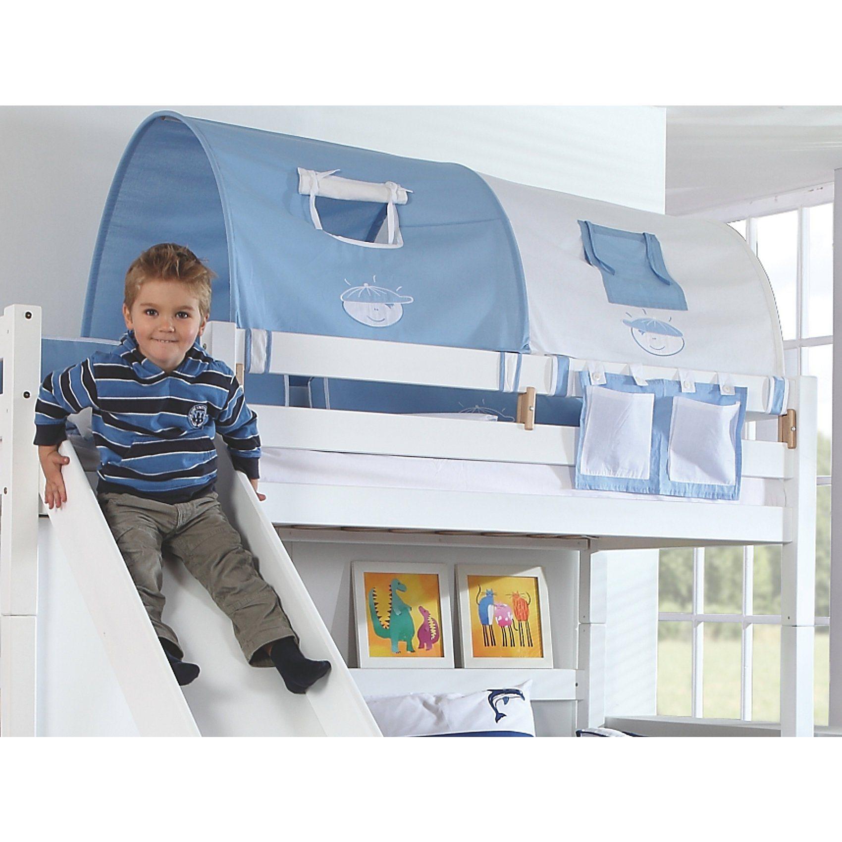Relita 2er Tunnel für Hoch-und Etagenbetten, Boy, hellblau/weiß, 15 | Kinderzimmer > Kinderbetten > Etagenbetten | Baumwolle | Relita