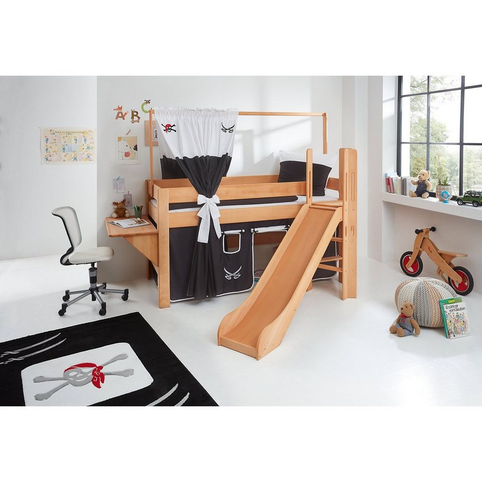 relita zeltstoffset f r spielbett leo pirat schwarz wei online kaufen otto. Black Bedroom Furniture Sets. Home Design Ideas