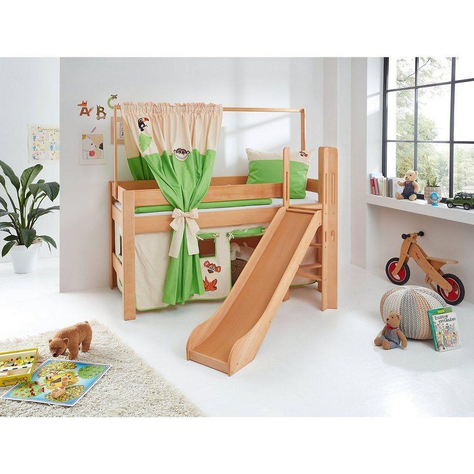 relita zeltstoffset f r spielbett leo dschungel gr n wei online kaufen otto. Black Bedroom Furniture Sets. Home Design Ideas