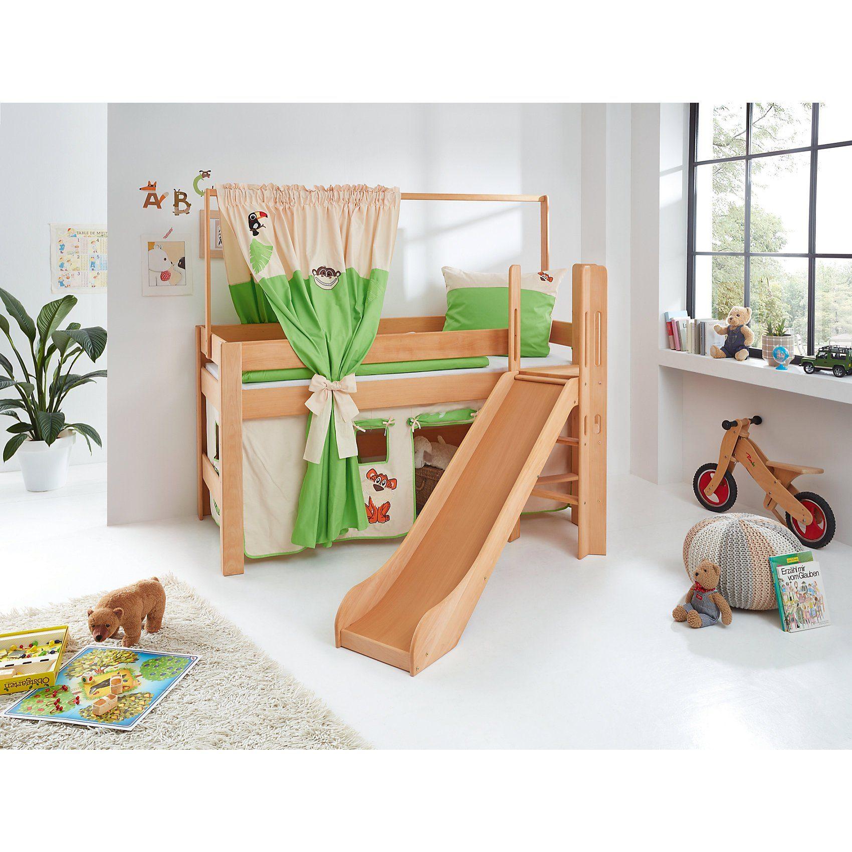 Relita Zeltstoffset für Spielbett LEO, Dschungel, grün/weiß
