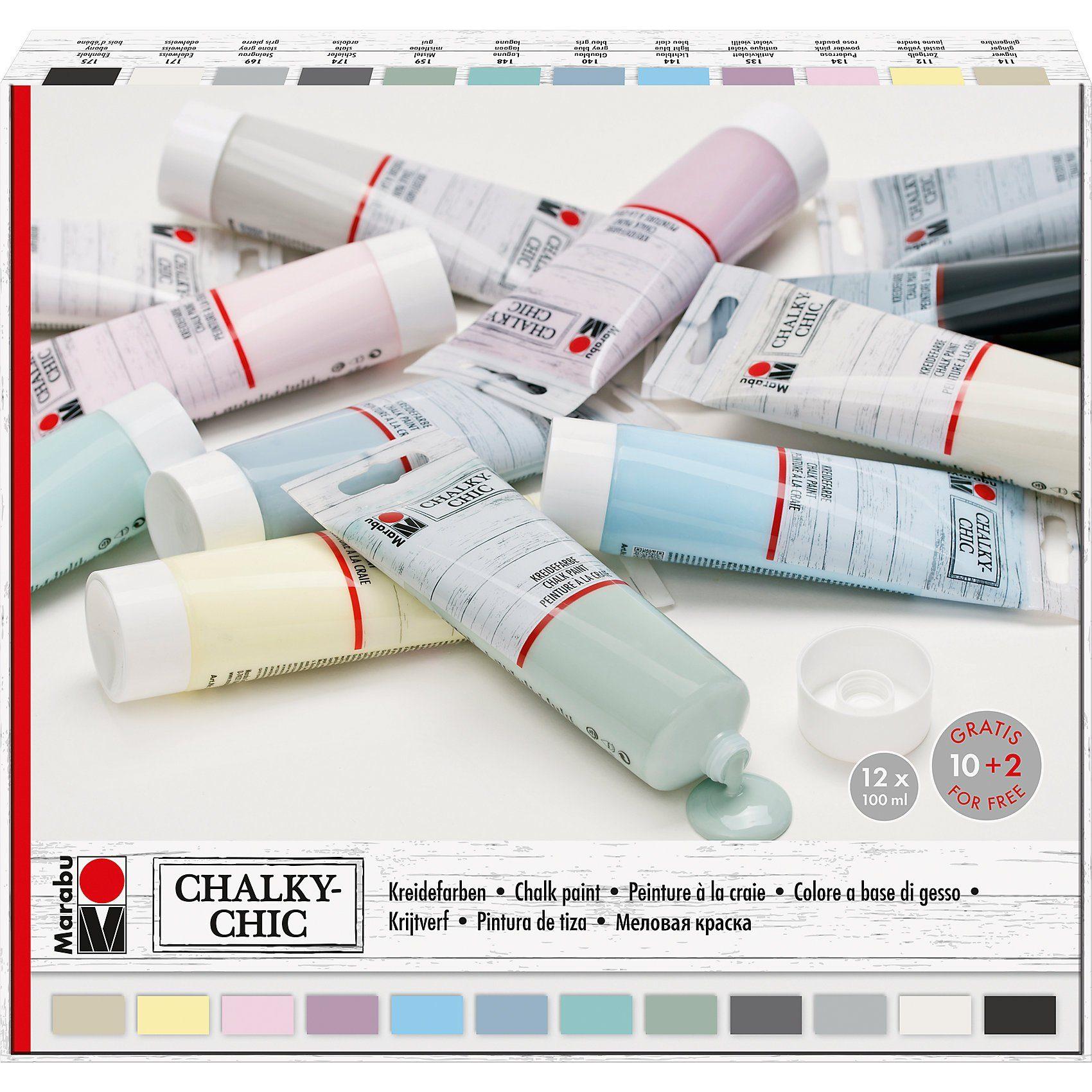 Marabu Kreidefarben Chalky Chic, 12 x 100 ml