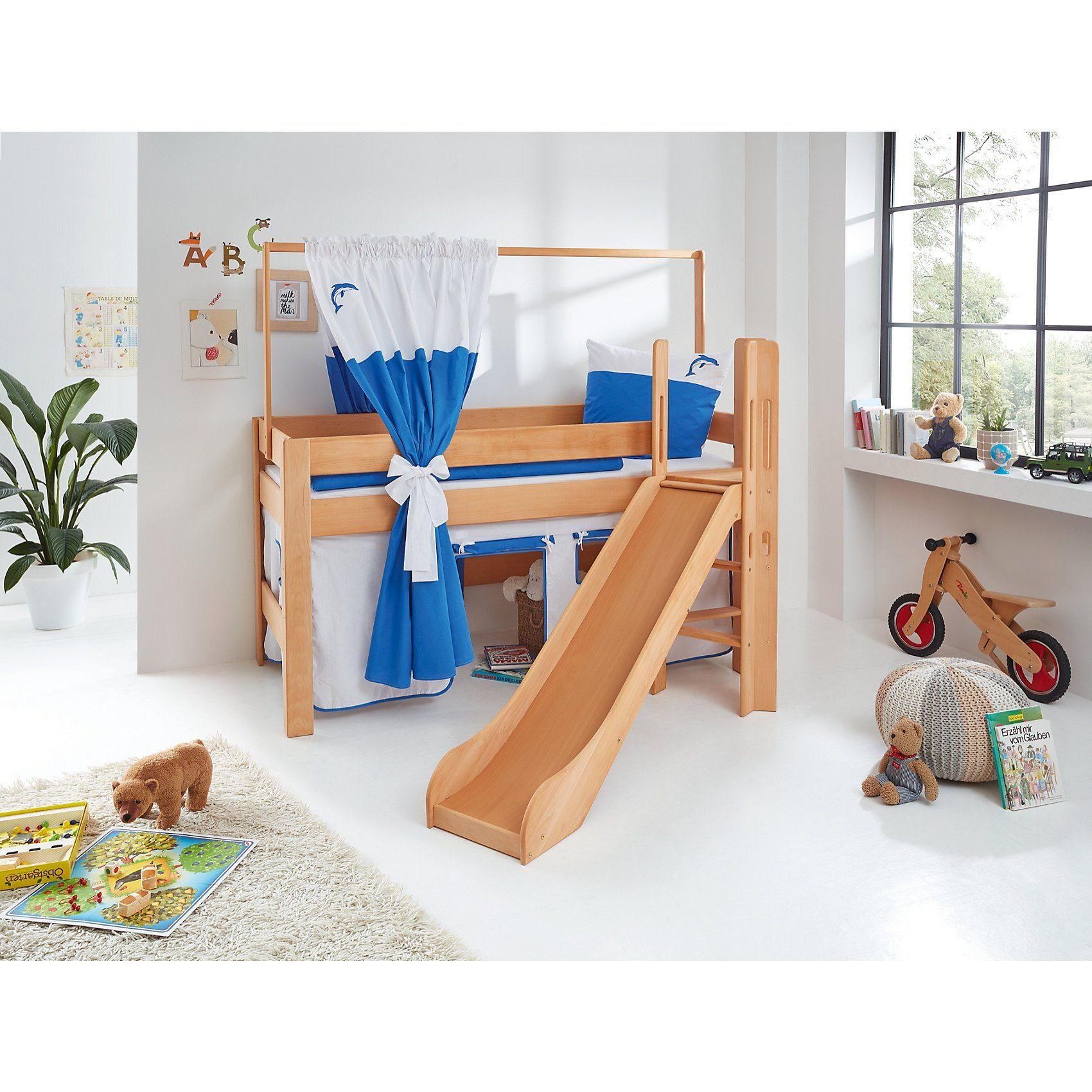 Relita Zeltstoffset für Spielbett LEO, Delphin, blau/weiß