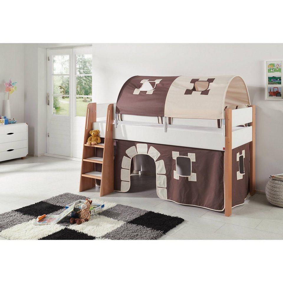 relita 2er tunnel f r hoch und etagenbetten burg braun. Black Bedroom Furniture Sets. Home Design Ideas
