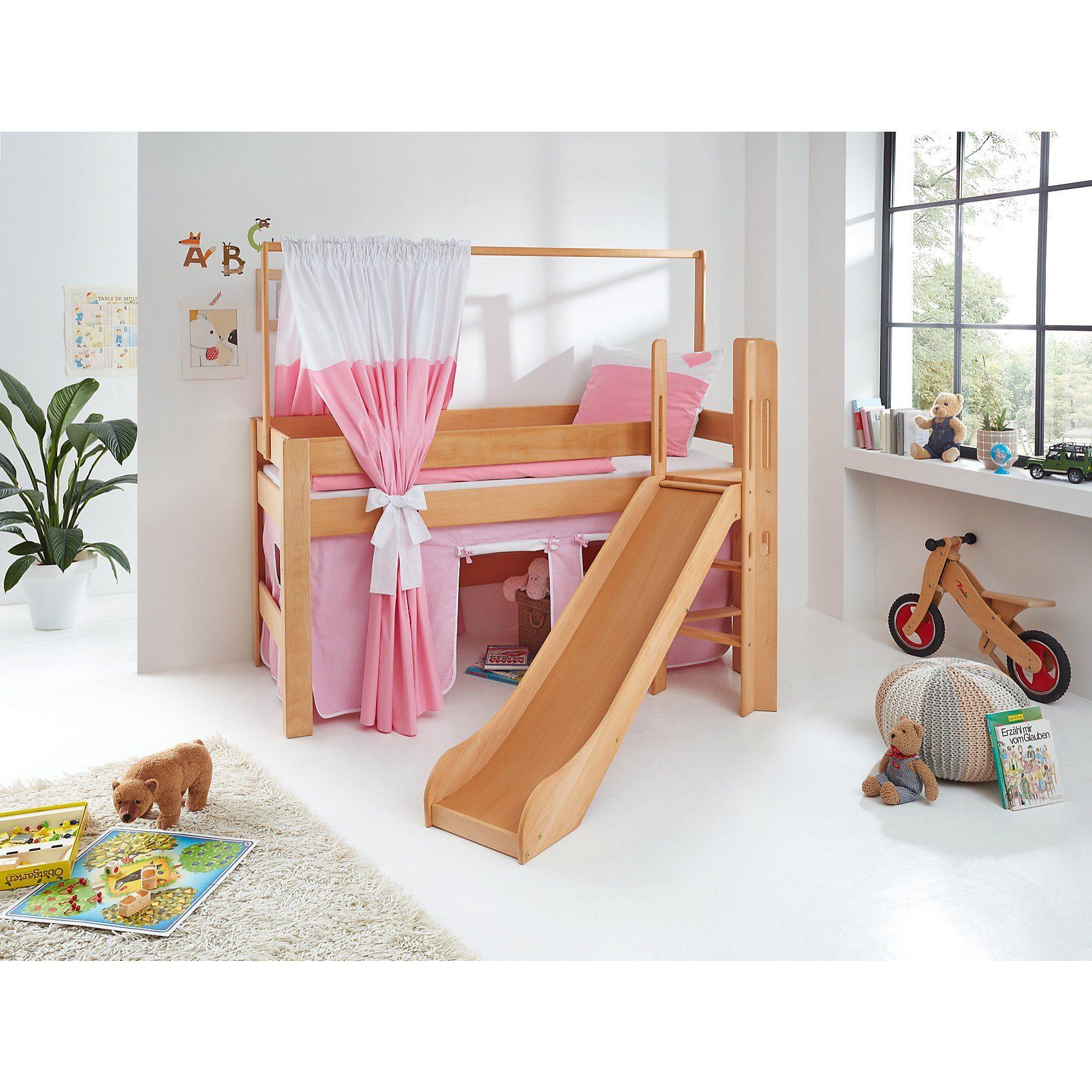 Relita Zeltstoffset für Spielbett LEO, Herz, rosa/weiß