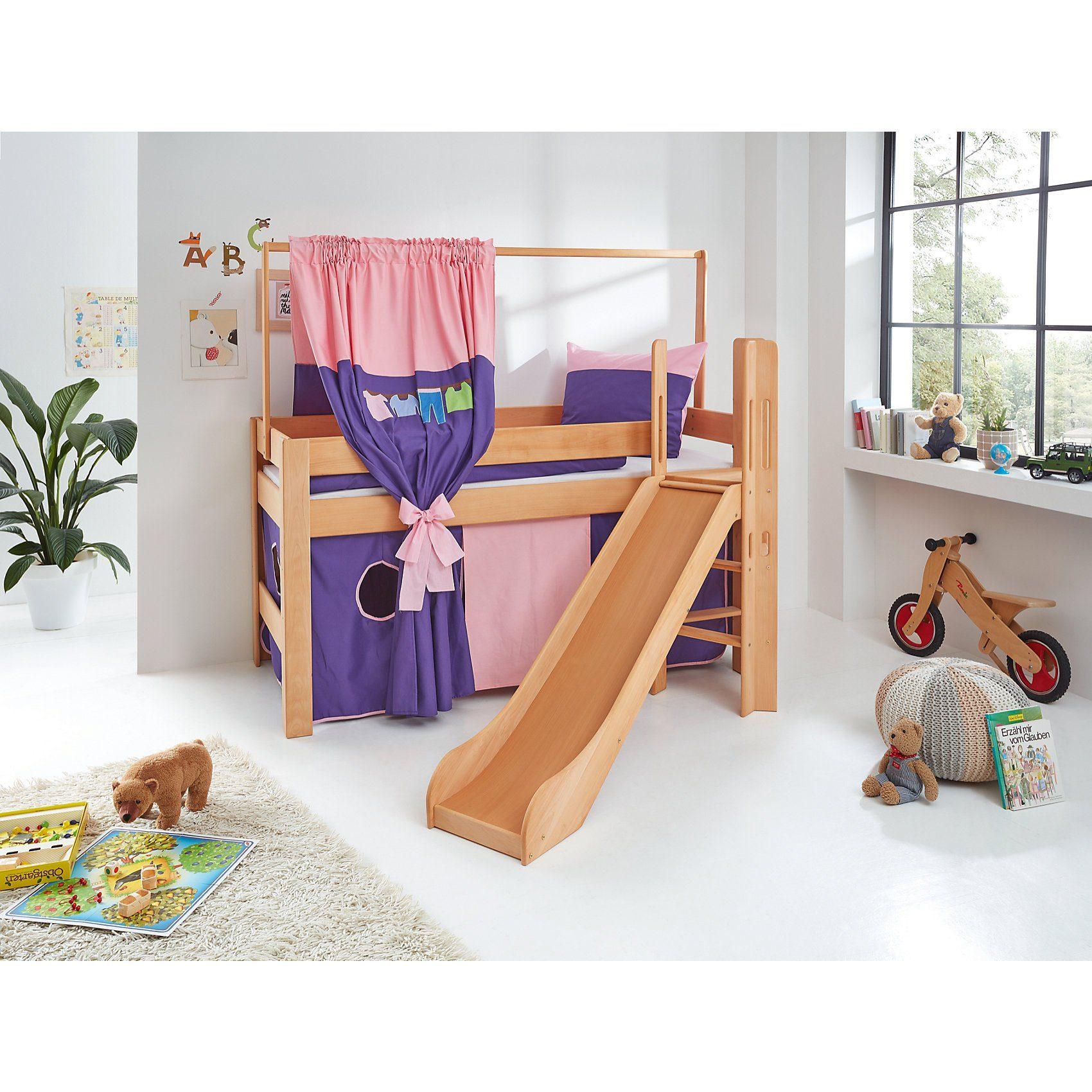 Relita Zeltstoffset für Spielbett LEO, Kleider, rosa/violett