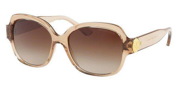 MICHAEL KORS Michael Kors Damen Sonnenbrille »SUZ MK2055«, braun, 3285T5 - braun/braun