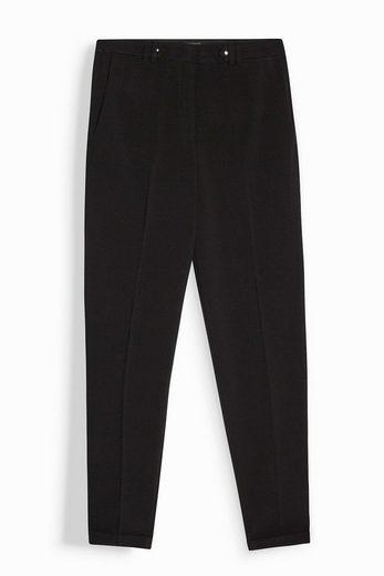 ESPRIT COLLECTION Verkürzte Stretch-Hose mit Taillenriegeln