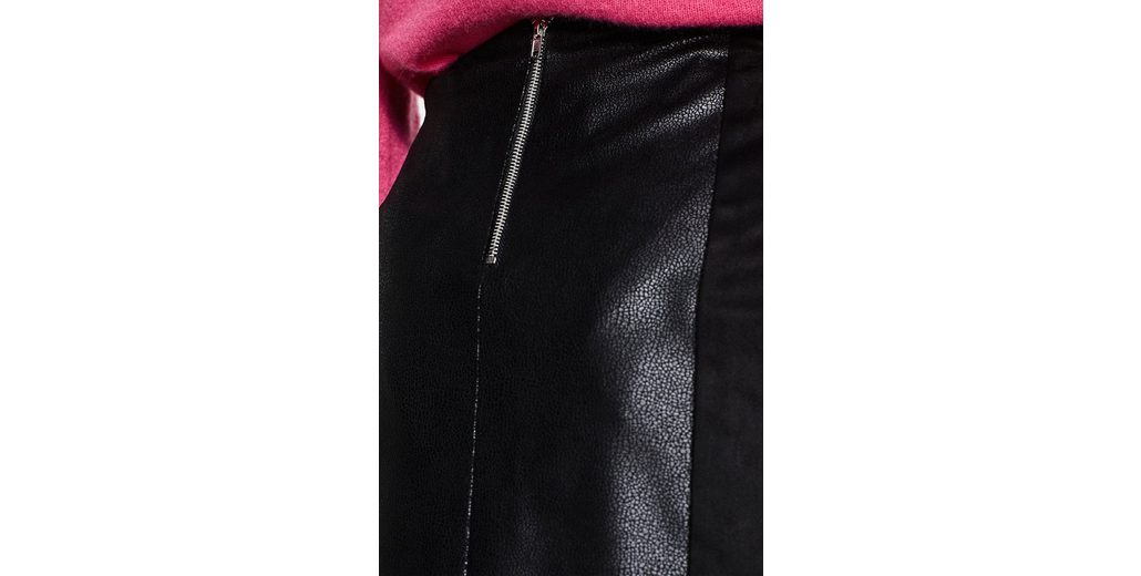 Geringster Preis ESPRIT Minirock aus Material-Mix in Leder-Optik Begrenzt Neue Kaufen Preiswerte Qualität FI5Zjx3P
