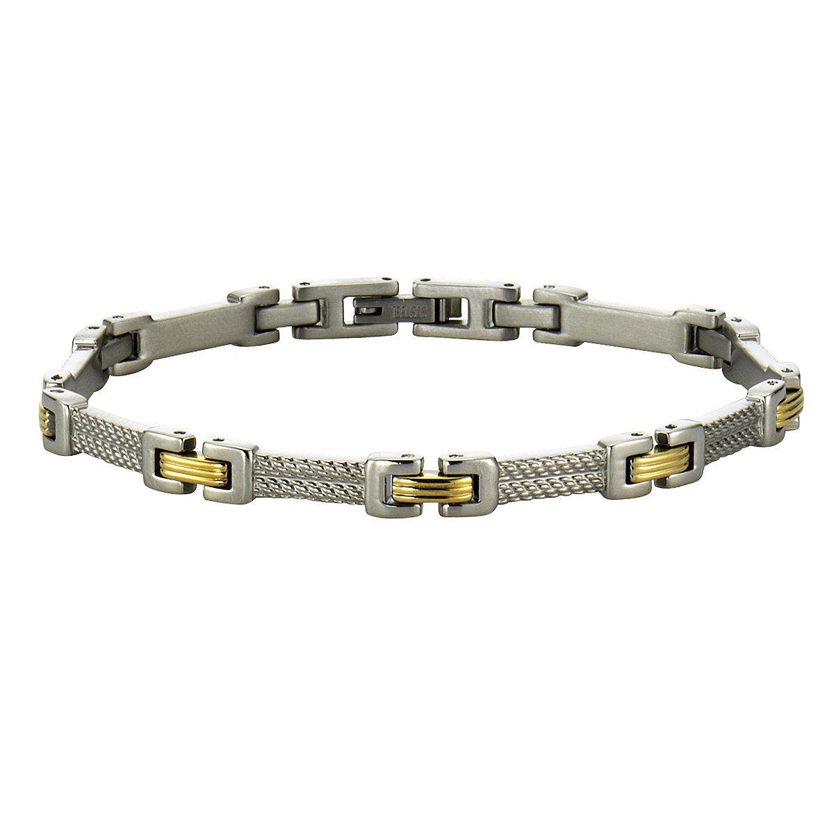 VIVANCE Armband »Edelstahl 2farbig«