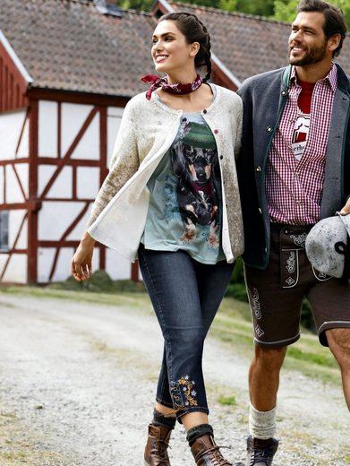 Janet und Joyce by Happy Size Trachten-Shirt mit Strass