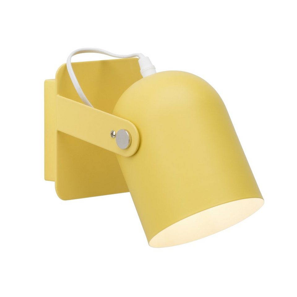 brilliant leuchten yan wandleuchte mit schalter gelb