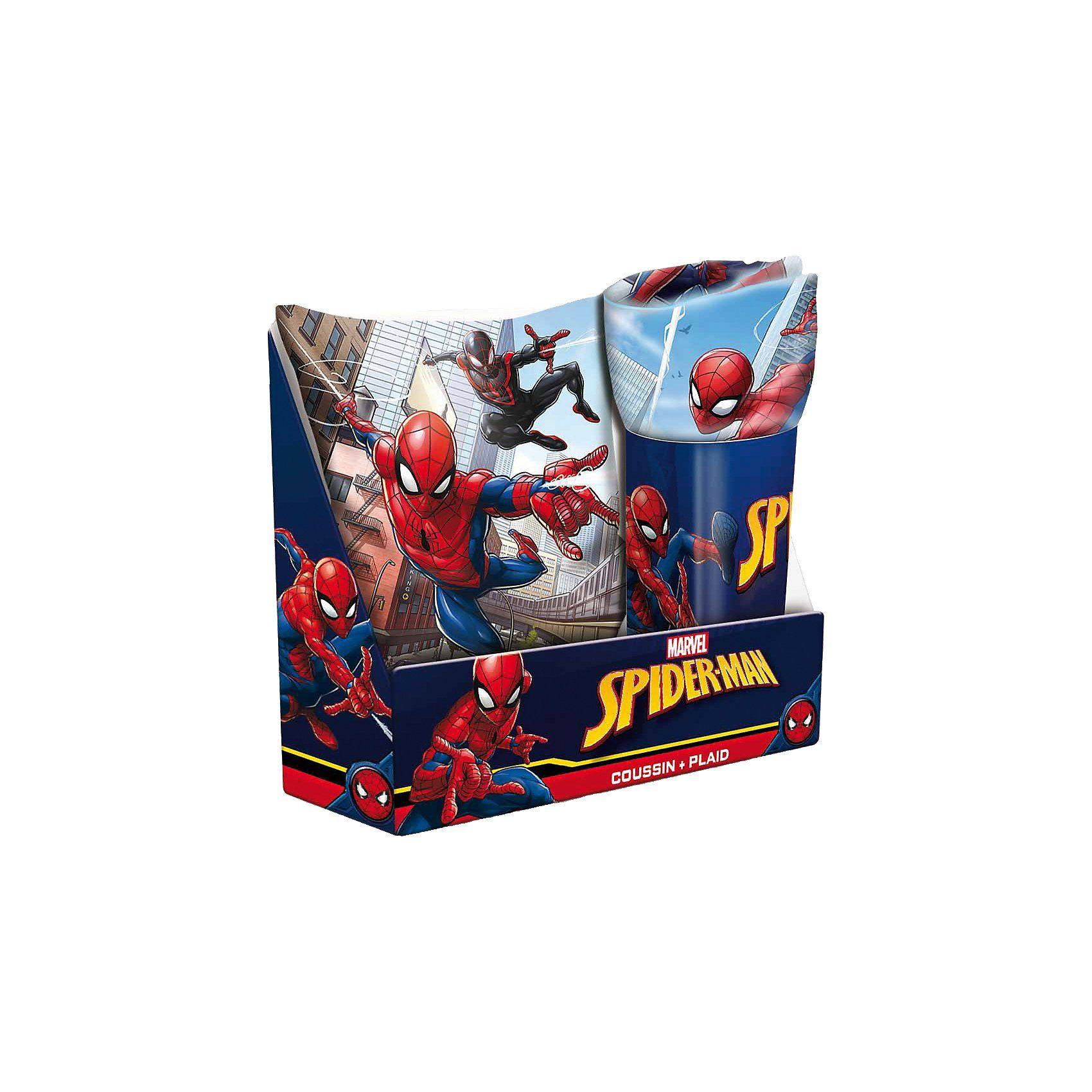 Geschenkset Spider-Man, Kissen & Decke, 2-tlg.