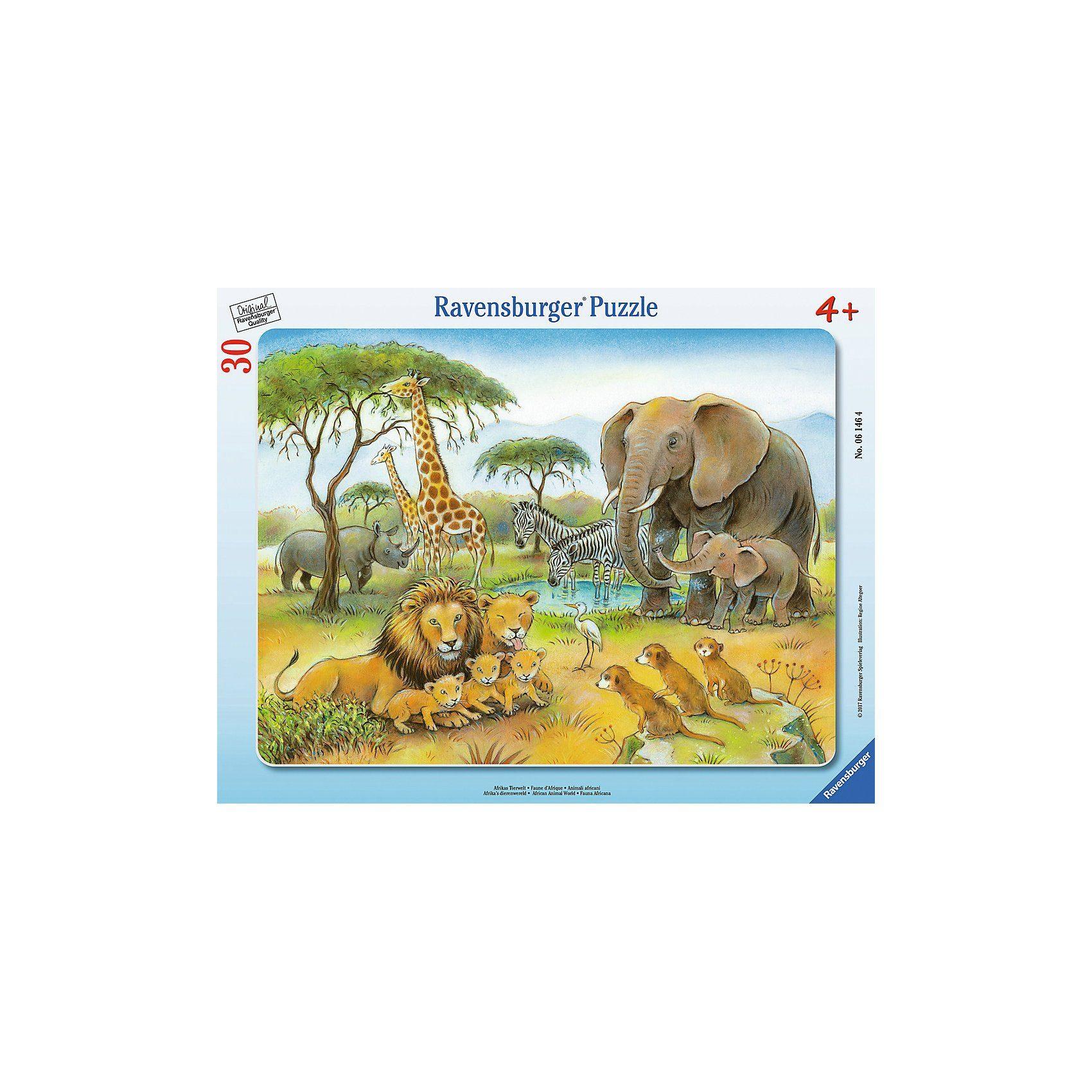 Ravensburger Rahmenpuzzle 30 Teile Afrikas Tierwelt