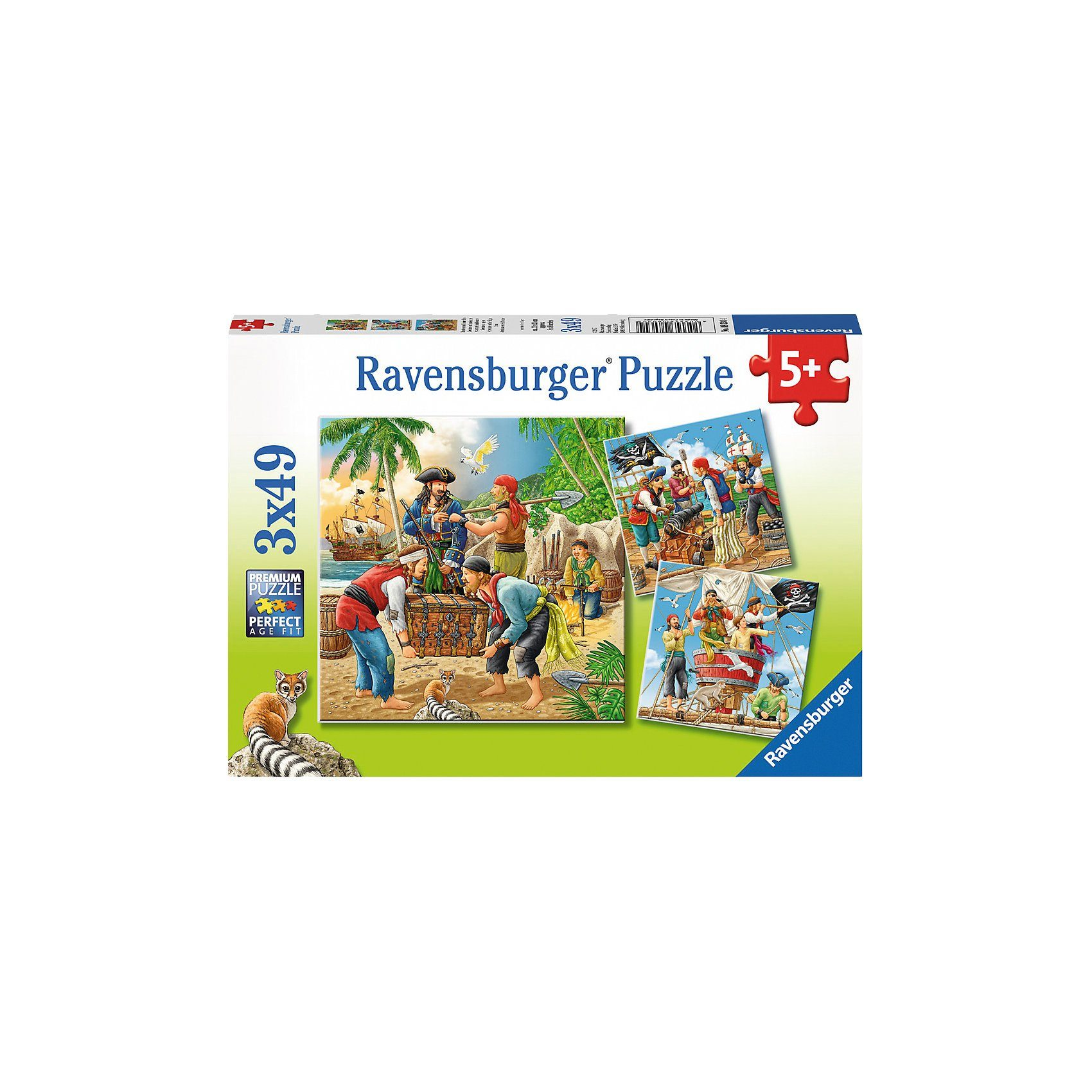 Ravensburger Abenteuer auf hoher See 3 X 49 Teile Puzzle