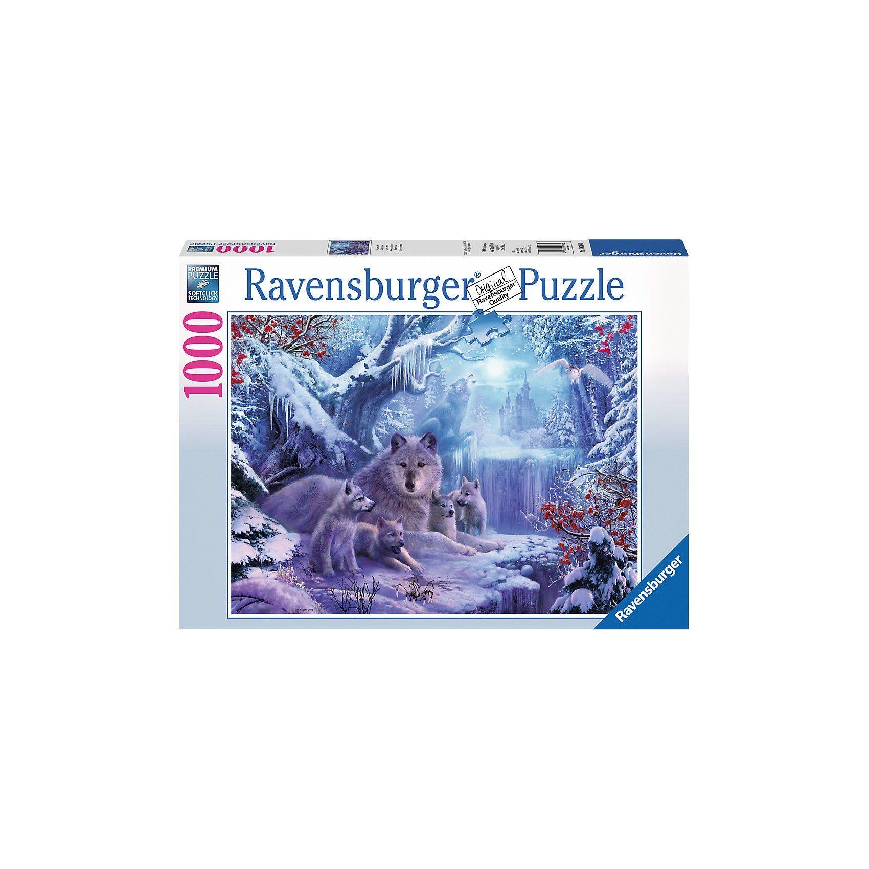 Ravensburger Puzzle 1000 Teile, 70x50 cm, Winterwölfe