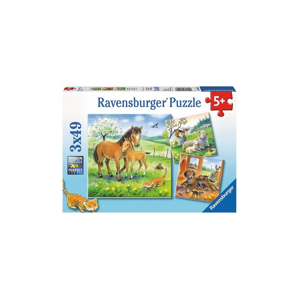 Ravensburger Kuschelzeit 3 X 49 Teile Puzzle