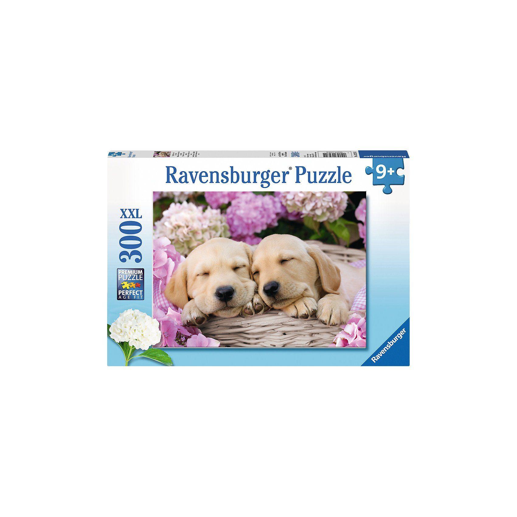 Ravensburger Süße Hunde im Körbchen 300 Teile Puzzle