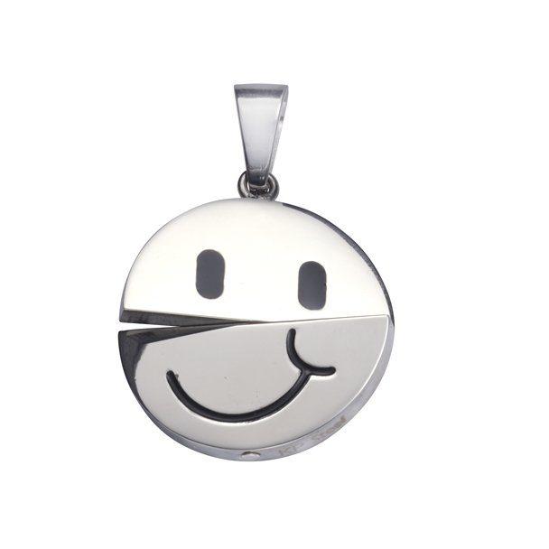 Firetti Anhänger »Edelstahl Smiley«