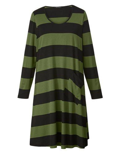 Sara Lindholm by Happy Size Jersey-Kleid gestreift