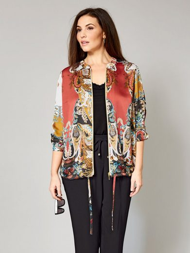 Sara Lindholm by Happy Size Blouson mit Allover-Print