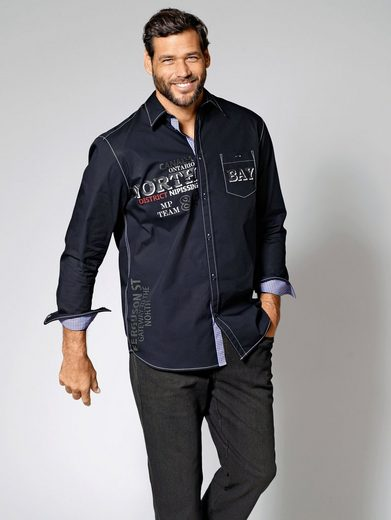 Men Plus by Happy Size Langarmhemd