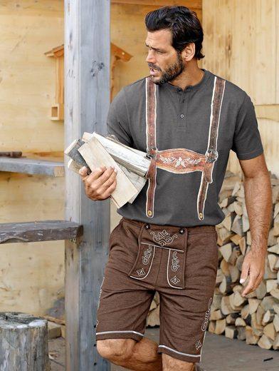Men Plus by Happy Size Henleyshirt mit Trachten-Print