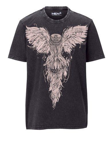 Men Plus by Happy Size T-Shirt mit Eulen-Print