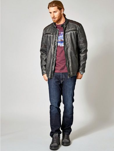 Men Plus by Happy Size Lederimitatjacke