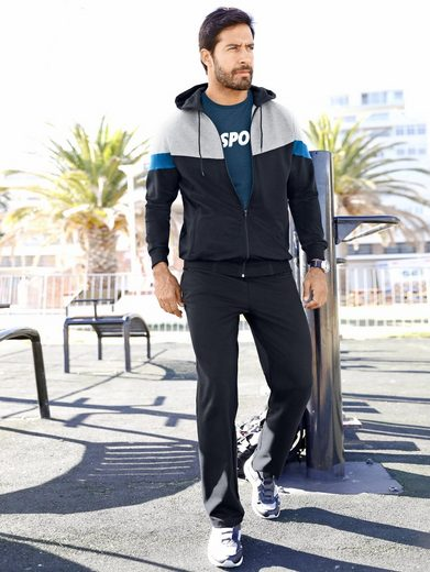 Men Plus by Happy Size Trainingsjacke mit Kapuze