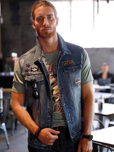 Men Plus by Happy Size T-Shirt mit Pin-Up-Print